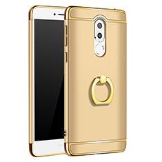 Etui Bumper Luxe Metal et Plastique avec Support Bague Anneau pour Huawei Mate 9 Lite Or