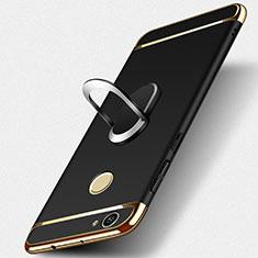 Etui Bumper Luxe Metal et Plastique avec Support Bague Anneau pour Huawei Nova Noir