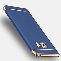 Etui Bumper Luxe Metal et Plastique avec Support Bague Anneau pour Samsung Galaxy C9 Pro C9000 Bleu