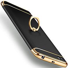 Etui Bumper Luxe Metal et Plastique avec Support Bague Anneau pour Xiaomi Mi 5 Noir