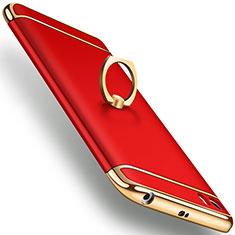 Etui Bumper Luxe Metal et Plastique avec Support Bague Anneau pour Xiaomi Mi 5 Rouge