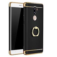 Etui Bumper Luxe Metal et Plastique avec Support Bague Anneau pour Xiaomi Mi 5S Plus Noir