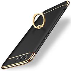 Etui Bumper Luxe Metal et Plastique avec Support Bague Anneau pour Xiaomi Mi 6 Noir