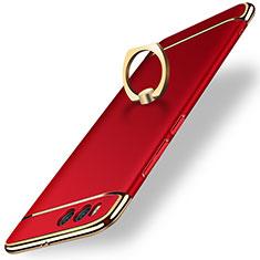 Etui Bumper Luxe Metal et Plastique avec Support Bague Anneau pour Xiaomi Mi 6 Rouge