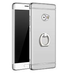 Etui Bumper Luxe Metal et Plastique avec Support Bague Anneau pour Xiaomi Mi Note 2 Special Edition Argent