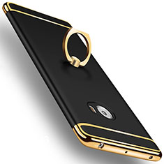 Etui Bumper Luxe Metal et Plastique avec Support Bague Anneau pour Xiaomi Mi Note 2 Special Edition Noir