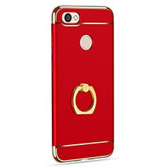 Etui Bumper Luxe Metal et Plastique avec Support Bague Anneau pour Xiaomi Redmi Note 5A High Edition Rouge