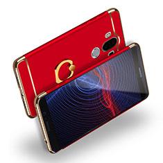 Etui Bumper Luxe Metal et Plastique avec Support Bague Anneau Q04 pour Huawei Mate 9 Rouge