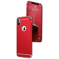 Etui Bumper Luxe Metal et Plastique C01 pour Apple iPhone X Rouge