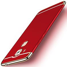 Etui Bumper Luxe Metal et Plastique M01 pour Huawei G9 Plus Rouge