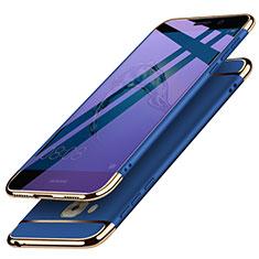 Etui Bumper Luxe Metal et Plastique M02 pour Huawei G9 Plus Bleu