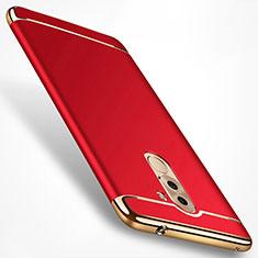 Etui Bumper Luxe Metal et Plastique M02 pour Huawei Honor 6X Pro Rouge