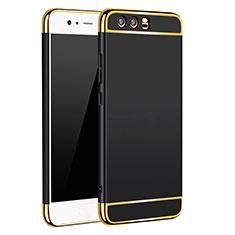 Etui Bumper Luxe Metal et Plastique M02 pour Huawei P10 Noir