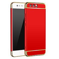 Etui Bumper Luxe Metal et Plastique M02 pour Huawei P10 Rouge
