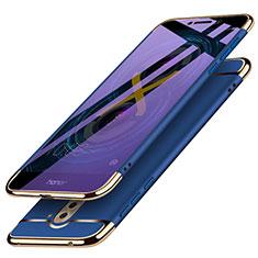 Etui Bumper Luxe Metal et Plastique M03 pour Huawei Honor 6X Pro Bleu