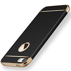Etui Bumper Luxe Metal et Plastique pour Apple iPhone 5S Noir