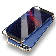 Etui Bumper Luxe Metal et Plastique pour Huawei Honor 7X Bleu