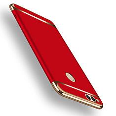 Etui Bumper Luxe Metal et Plastique pour Huawei Honor 7X Rouge