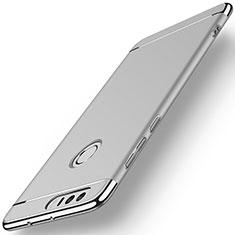 Etui Bumper Luxe Metal et Plastique pour Huawei Honor 8 Argent