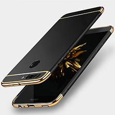 Etui Bumper Luxe Metal et Plastique pour Huawei Honor 8 Pro Noir
