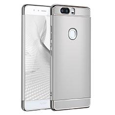 Etui Bumper Luxe Metal et Plastique pour Huawei Honor V8 Argent