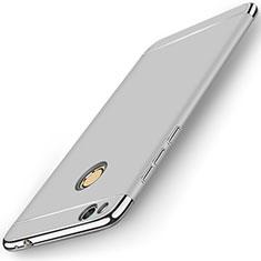 Etui Bumper Luxe Metal et Plastique pour Huawei P8 Lite (2017) Argent