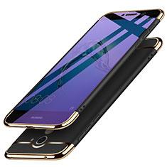 Etui Bumper Luxe Metal et Plastique pour Huawei Y7 Prime Noir