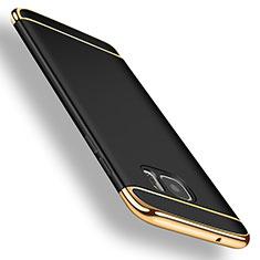 Etui Bumper Luxe Metal et Plastique pour Samsung Galaxy S7 Edge G935F Noir