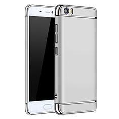 Etui Bumper Luxe Metal et Plastique pour Xiaomi Mi 5 Argent