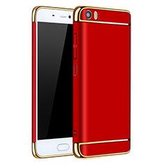 Etui Bumper Luxe Metal et Plastique pour Xiaomi Mi 5 Rouge