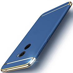 Etui Bumper Luxe Metal et Plastique pour Xiaomi Mi Mix 2 Bleu