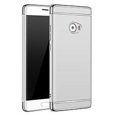 Etui Bumper Luxe Metal et Plastique pour Xiaomi Mi Note 2 Special Edition Argent