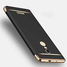 Etui Bumper Luxe Metal et Plastique pour Xiaomi Redmi Note 3 Noir