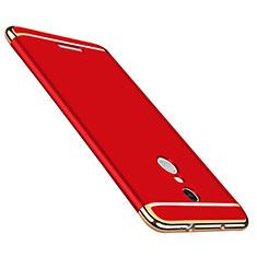 Etui Bumper Luxe Metal et Plastique pour Xiaomi Redmi Note 3 Rouge