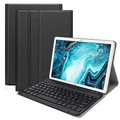 Etui Clapet Portefeuille Livre Cuir avec Clavier K01 pour Huawei MatePad 10.8 Noir