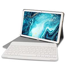 Etui Clapet Portefeuille Livre Cuir avec Clavier K01 pour Huawei MatePad 10.8 Or