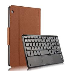Etui Clapet Portefeuille Livre Cuir avec Clavier pour Huawei MediaPad M3 Lite 10.1 BAH-W09 Marron