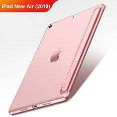 Etui Clapet Portefeuille Livre Cuir L01 pour Apple iPad Air 3 Or Rose
