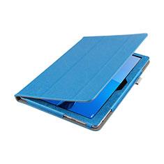 Etui Clapet Portefeuille Livre Cuir L01 pour Huawei MediaPad M3 Lite 10.1 BAH-W09 Bleu