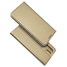 Etui Clapet Portefeuille Livre Cuir L01 pour Huawei P30 Pro Or