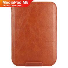 Etui Clapet Portefeuille Livre Cuir L08 pour Huawei MediaPad M5 8.4 SHT-AL09 SHT-W09 Marron