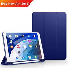 Etui Clapet Portefeuille Livre Cuir pour Apple iPad Air 3 Bleu
