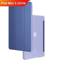 Etui Clapet Portefeuille Livre Cuir pour Apple iPad Mini 5 (2019) Bleu