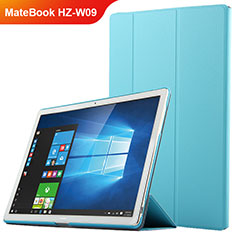 Etui Clapet Portefeuille Livre Cuir pour Huawei MateBook HZ-W09 Bleu