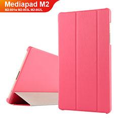 Etui Clapet Portefeuille Livre Cuir pour Huawei Mediapad M2 8 M2-801w M2-803L M2-802L Rouge