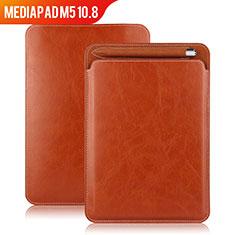 Etui Clapet Portefeuille Livre Cuir pour Huawei MediaPad M5 10.8 Marron