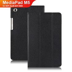 Etui Clapet Portefeuille Livre Cuir pour Huawei MediaPad M5 8.4 SHT-AL09 SHT-W09 Noir