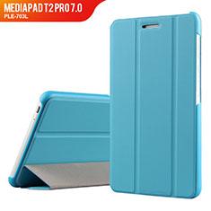 Etui Clapet Portefeuille Livre Cuir pour Huawei MediaPad T2 Pro 7.0 PLE-703L Bleu Ciel