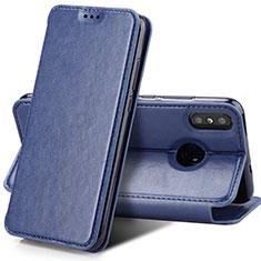 Etui Clapet Portefeuille Livre Cuir pour Xiaomi Mi Mix 3 Bleu