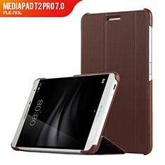 Etui Clapet Portefeuille Livre Cuir R01 pour Huawei MediaPad T2 Pro 7.0 PLE-703L Marron